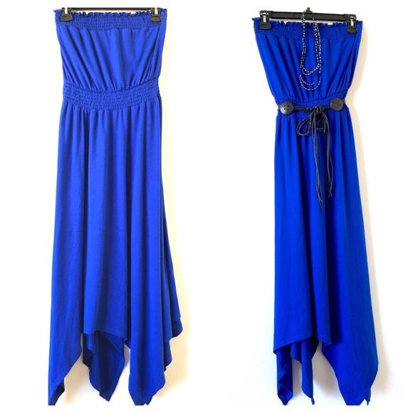 torrid Dresses & Skirts - Torrid Cobalt Blue Smocked Jersey Tube Dress